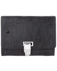 Opening Ceremony - Nokki Leather Clutch Black - Lyst