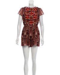 Anna Sui - Silk Printed Romper - Lyst