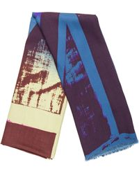 Vivienne Westwood - Abstract Print Raw-edge Shawl - Lyst
