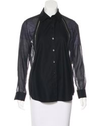 Givenchy - Long Sleeve Button-up Top - Lyst