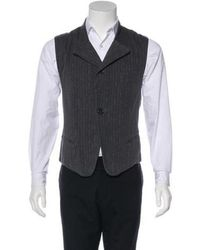 Ann Demeulemeester - Striped Twill Suit Vest - Lyst