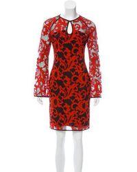 Diane von Furstenberg - Gadie Two Toned Lace Dress - Lyst