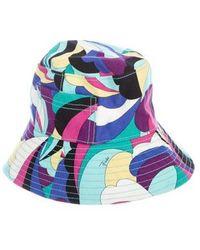 Emilio Pucci - Multicolor Bucket Hat Aqua - Lyst bc86d7709087