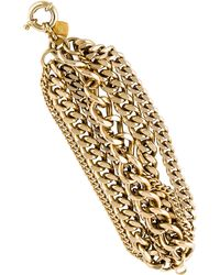 Giles & Brother - Giant Multi Chain Bracelet Gold - Lyst