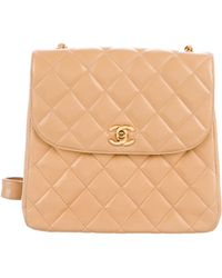 1595a44992eb Lyst - Chanel Classic Square Mini Flap Bag Black in Metallic