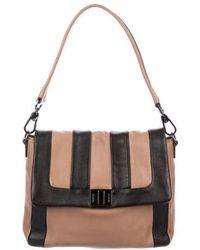 Anya Hindmarch - Bicolor Leather Satchel Black - Lyst