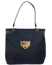 Nina Ricci - Nubuck Handle Bag Navy - Lyst