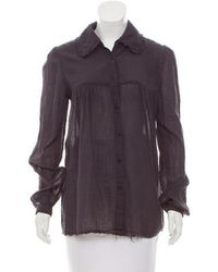 Raquel Allegra - Long Sleeve Button-up Top W/ Tags - Lyst