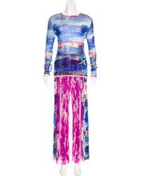 Jean Paul Gaultier - Mesh Printed Pant Set - Lyst
