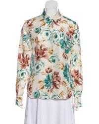Loro Piana - Silk Floral Print Blouse Multicolor - Lyst