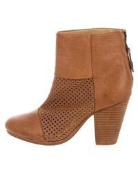Rag & Bone - Leather Newbury Ankle Boots - Lyst