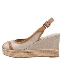 7ed5db505df7 Lyst - Tory Burch Espadrille Wedge Sandals Brown in Natural