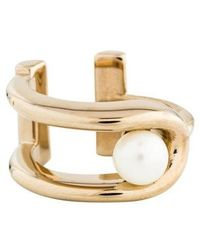 Jason Wu - Faux Pearl Loop Ring Gold - Lyst
