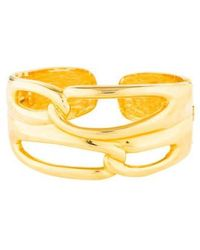 Kenneth Jay Lane - Open Link Cuff Gold - Lyst