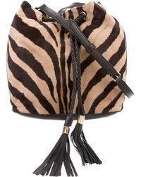 Emilio Pucci - Ponyhair Drawstring Bag Tan - Lyst
