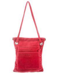 Sonia Rykiel - Velvet Shoulder Bag Red - Lyst