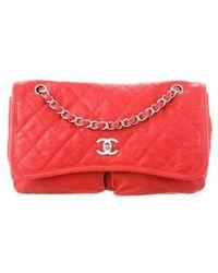 21b976e973dc Chanel - Large Natural Beauty Flap Bag Terracotta - Lyst