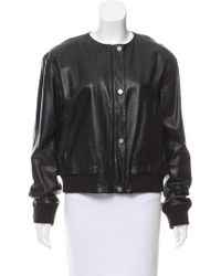 Tess Giberson - Leather Bomber Jacket - Lyst