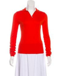 VEDA - Long Sleeve Polo Sweater W/ Tags White - Lyst
