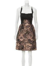 Hussein Chalayan - Brocade Mini Dress Black - Lyst
