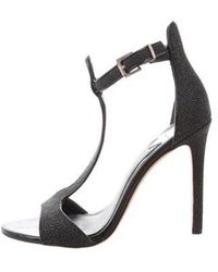 B Brian Atwood - Leather T-strap Sandals - Lyst