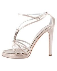 1d6caeb1c5098 Lyst - Giuseppe Zanotti Embellished Satin Sandals W  Tags Gold in ...