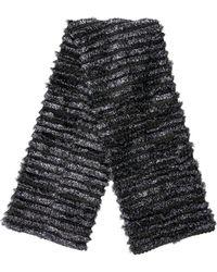Marc Jacobs - Tinsel Knit Scarf Grey - Lyst