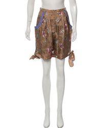 Sachin & Babi - Silk High-rise Shorts Tan - Lyst