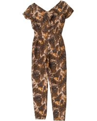 Emilio Pucci - Silk-blend Jumpsuit Multicolor - Lyst