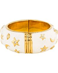 Moschino - Moon And Stars Crystal & Enamel Hinge Bracelet Gold - Lyst