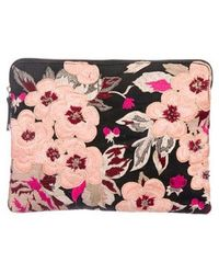 Lizzie Fortunato - Embroidered Floral Clutch - Lyst