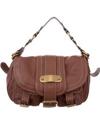 Marc Jacobs - Grained Leather Messenger Bag Brown - Lyst