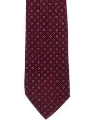 Chanel - Geometric & Interlocking C Print Silk Tie Grey - Lyst