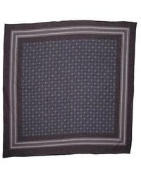Helmut Lang - Woven Pattern Scarf Navy - Lyst