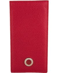 BVLGARI - Leather Notepad Cover Red - Lyst
