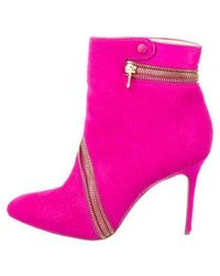 Brian Atwood - Ponyhair Ankle Boots Fuchsia - Lyst
