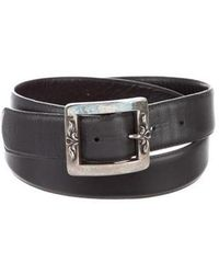 Chrome Hearts - Leather Sterling Silver Belt Black - Lyst