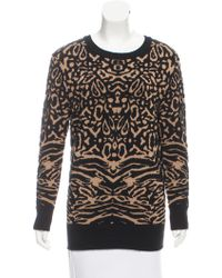Torn By Ronny Kobo - Patterned Crew Neck Sweater Black - Lyst
