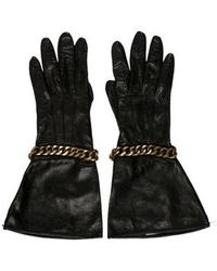 3.1 Phillip Lim - Chain-trimmed Leather Gloves Black - Lyst