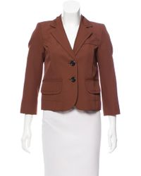Marc Jacobs - Cropped Structured Blazer - Lyst