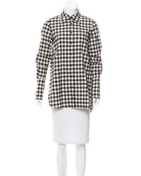 Kimberly Ovitz - Gingham Button-up Top W/ Tags - Lyst