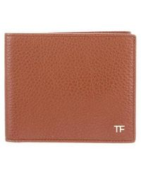 Tom Ford - Leather Bifold Wallet W/ Tags Tan - Lyst