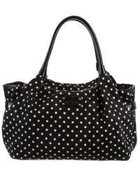 Kate Spade Stevie Polka Dot Nylon Bag Black Lyst