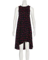 Piamita - Satin Flared Dress - Lyst