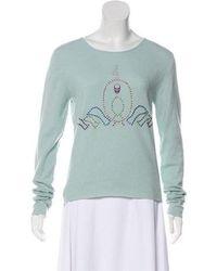 Lucien Pellat Finet - Embellished Cashmere Sweater - Lyst