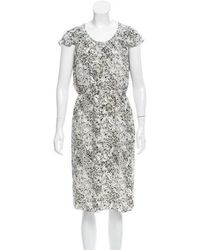 Behnaz Sarafpour - Silk Printed Dress W/ Tags - Lyst