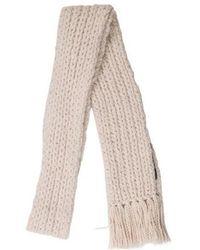 Marc Jacobs - Wool Fringe-trimmed Scarf Beige - Lyst