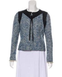 Louis Vuitton - Leather-trimmed Wool Jacket Multicolor - Lyst