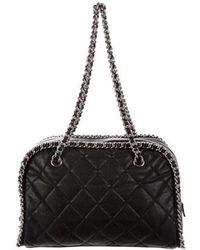 Chanel - Chain Around Bowler Bag Black - Lyst