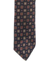 Dior Homme - Geometric Print Silk Tie - Lyst